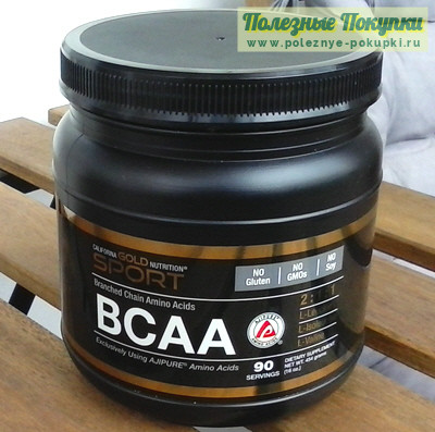 California Gold Nutrition BCAA 2:1:1 в порошке 454 г