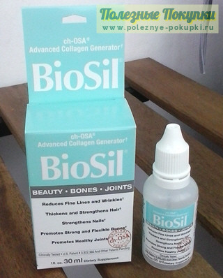 Препарат жидкий кремний генератор коллагена Natural Factors Biosil ch-OSA Advanced Collagen Generator