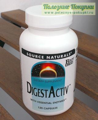 Ферменты для улучшения пищеварения Source Naturals DigestActiv